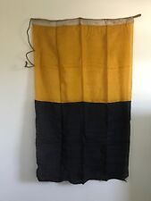 "Vintage Linen Blue & Gold Flag Marked ""K"" Nautical Michigan Rare"