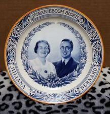 *** RARE Dutch Plate JULIANA & BERNARD ENGAGEMENT D'ORANJEBOOM BLOEIT 1936
