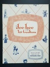 Jee Bee Toy Creations Catalog 1954 Jocko Puffo Stuffed Animals with Price List