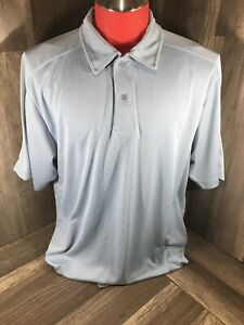 North End Sport Performance  88617 BLUE Men SZ L Performance Poly Polo Shirt