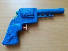 Vintage 70's PLASTIC WATER BLUE GUN PISTOL SQUIRT COWBOY YUGOSLAVIA