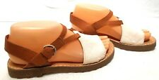 Camper Womens Leather / Animal Skin T- Strap Ankle  Sandals Size US 6 EU 36 MINT