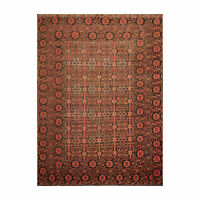 """7'10"""" x 10'8"""" Hand Knotted 100% Wool Afghanistan Tribal Oriental Area Rug Rust"""