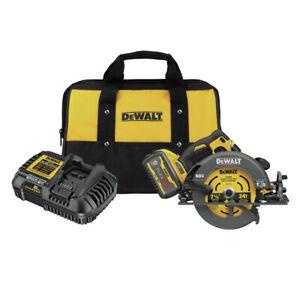 "DeWalt DCS578X1 FLEXVOLT 60V MAX 7-1/4"" Circular Saw Kit w/ (1) 9 Ah Batt. New"