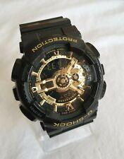 Casio G-SHOCK  GA110GB-1A Gold & Black Dual Analogue Digital Watch