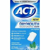 ACT Dry Mouth GUM w/ XYLITOL Sugar-Free Mint 20 ct