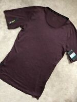 NIKE DRY DRY-FIT OXBLOOD RED SLIM FIT TRAINING T-SHIRT TOP - MEDIUM - NEW & TAGS