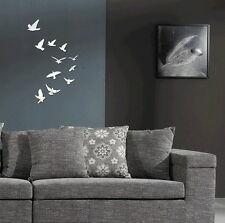 Spiegelsticker  Spiegeloptik Spiegel Wandtattoo Wandsticker Vogel Vögel stylisch
