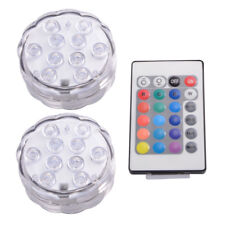 IR Remote Control SMD5050 RGB Submersible LED Lights AAA Battery Operated LD842