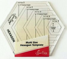 SEW EASY MULTI SIZE HEXAGON TEMPLATE 1.5 - 5.5 CUT PATCHWORK QUILTING BNEW