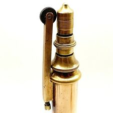 HUGE 30 cm BRASS petrol TABLE Cigarette lighter vintage 1930's antique Hungary