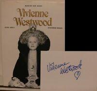 Vivienne Westwood Buch original signed signiert autograph Signatur Autogramm