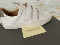 BALMAIN Velcro White Sneakers Trainer Size UK 10 (43) RRP £409 - Ex Display