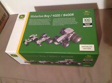 John Deere Factory Ed Ertl 1/64 100th Anniv 8400R 4020 Waterloo Boy Tractor Set