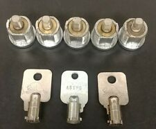 5 x NORTHERN BEAVER TUBULAR FRONT LOCKS WITH 3 x ROUND KEY #A5120 PARTS