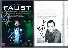 2.DVD Jonas KAUFMANN, Rene PAPE, NEZET-SEGUIN Signed GOUNOD FAUST POPLAVSKAYA