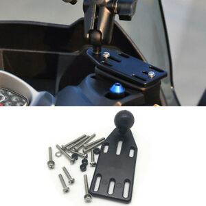 "1"" Ball Motorcycle Cylinder Lever Reservoir Cap Mount Base for Phone GPS Bracket"