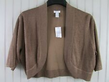 Chicos Size 2 Sweater Shrug Shimmer Spice Copper Brown NWT