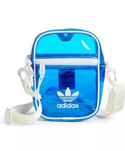 Adidas Originals Tinted Festival Crossbody Bag Bluebird & White New