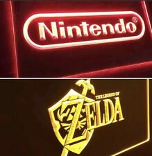 NINTENDO & ZELDA VIDEO GAME ARCADE LED NEON LIGHT SIGNS for Game Room. NEW!