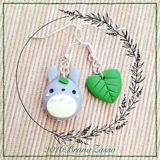 Orecchini Totoro ~ Cute Miyazaki Ghibli Earrings Fimo Polymer Clay My Neighbor 2