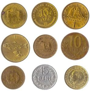 9 DIFFERENT COINS FROM COUNTRIES IN THE BALKANS PENINSULA. OLD COLLECTIBLE COINS
