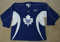 Reebok Toronto Maple Leafs Practice Jersey Mens XL Blue and White #42