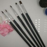 Nail Art Acrylic UV Gel Salon Pen Flat Brush Kit Dotting Nail Art Tool 5PCS