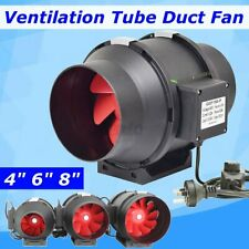 "4"" 6"" 8"" Ventilation Tube Inline Duct Fan Speed Controller Industrial Household"