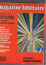 MAGAZINE LITTERAIRE N°239 240 1987 IDEOLOGIES LE GRAND CHAMBARDEMENT