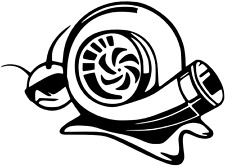 Caracol Turbo STICKER/DECAL Coche/Furgoneta/Ventana/Pared Divertido Vinilo!!!