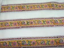By yard hand block print :Pure cotton fabric border print 11 Multi Color SSTH0