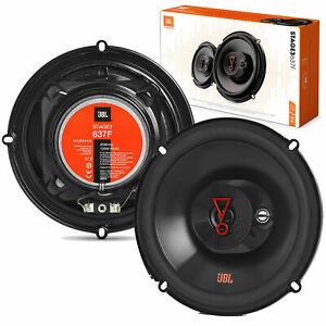 "New JBL Stage 3 637F 225 Watt 6.5"" 3-Way Coaxial Car Audio Speakers Stage3 637"