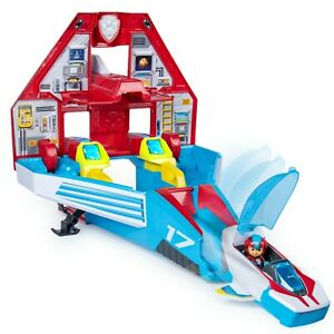 PAW Patrol, Super PAWs, 2-in-1 Transforming Mighty Pups Jet Command Center with