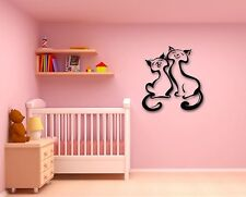 Wall Stickers Vinyl Decal Cute Cat Animals Pets Love Romance (ig266)