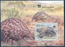 Mozambique Wwf World Wildlife Fund Ground Pangolin Souvenir Sheet