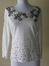 Philippe Carat Women Blouse White/Gray Size M/L