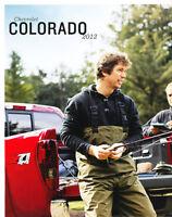 2012 Chevrolet Colorado Pickup Truck Original Chevy Sales Brochure Folder