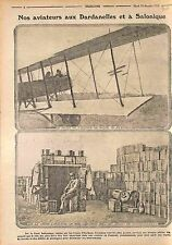 Aviateurs Armée de l'Air Dardanelles & Salonique Thessaloniki Greece WWI 1915