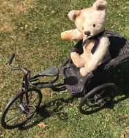 Antique steiff Working Growler jointed Champagne mohair collectors teddy bear-
