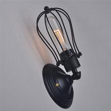 Industriell Stil Dachboden Eisen Retro-klein Käfige Wand Lampe Vintage Filament