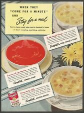 CAMPBELL'S Tomato Soup - 1948 Vintage Print Ad