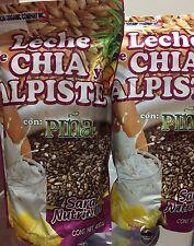SARA NUTRITION LECHE  ALPISTE  CHIA CON PINA MILK OF CHIA ,CANARY SEED PINEAPPLE