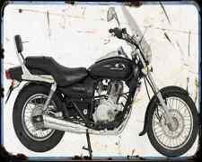 Bajaj Avenger 200 07 03 A4 Metal Sign moto antigua añejada De