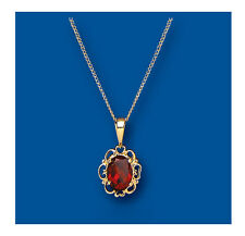 Garnet Pendant Garnet Necklace Yellow Gold Garnet Pendant Natural Garnet