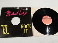 """MEDLEY 19 ROCK IT MAXI LP VINILO VINYL  12"""" 1985 DDT OUT 3042 G/VG"""