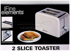 ES 2 Wide Bread Slice Toaster Perfect For Home Office Students Gift BNIB Cream