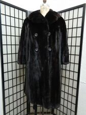 EXCELLENT CANADIAN DARK RANCH MINK FUR COAT JACKET WOMEN WOMAN SZ 18-20 3XL