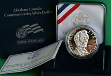 2009 Abraham Lincoln Proof Commemorative 90% Silver Dollar Coin with Box and COA