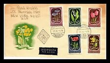 DR JIM STAMPS FLOWERS FLORA FIRST DAY ISSUE COMBO HUNGARY AIRMAIL COVER